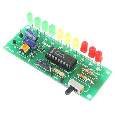 2-Program (Dot or Bar) 10-LED VU-Meter