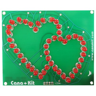 Rotating Hearts Valentine LED Display