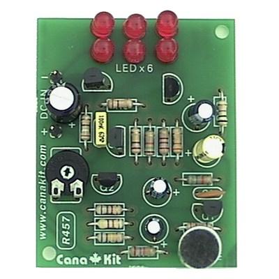 6-LED Super Sensitive Sound to Light Converter