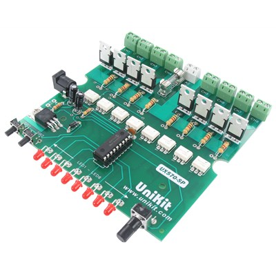 8-Channel / 20-Program AC Light Chaser / Controller