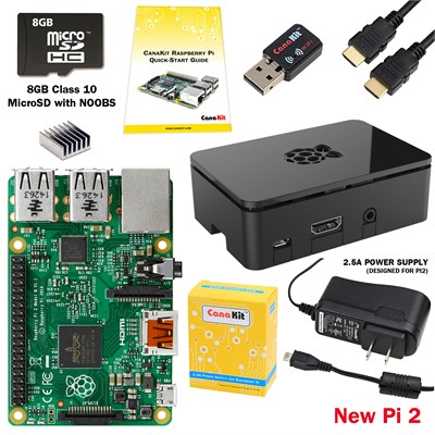 Raspberry Pi 2 Complete Starter Kit with WiFi Adapter